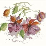 Lanarte 34849 Fuchsia in Watercolour